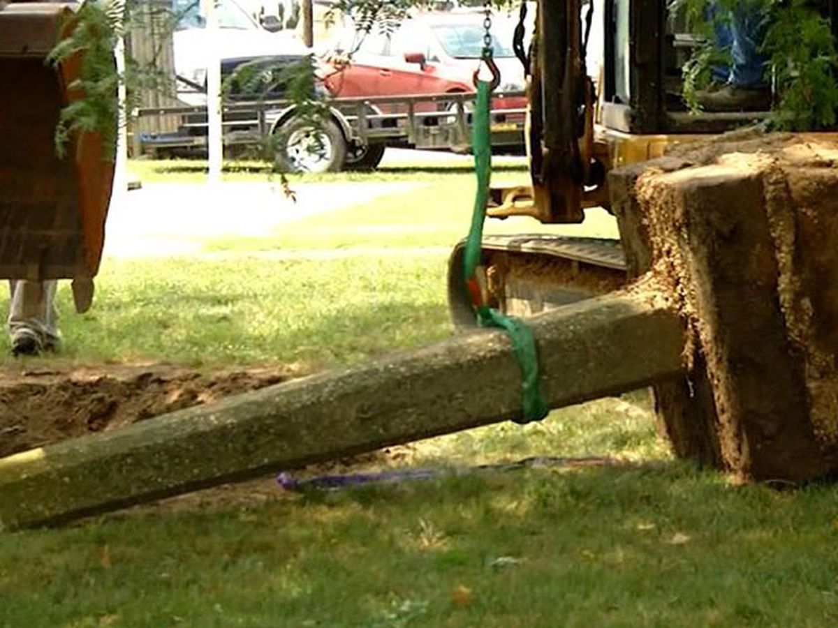 Whipping post removed from Delaware courthouse square