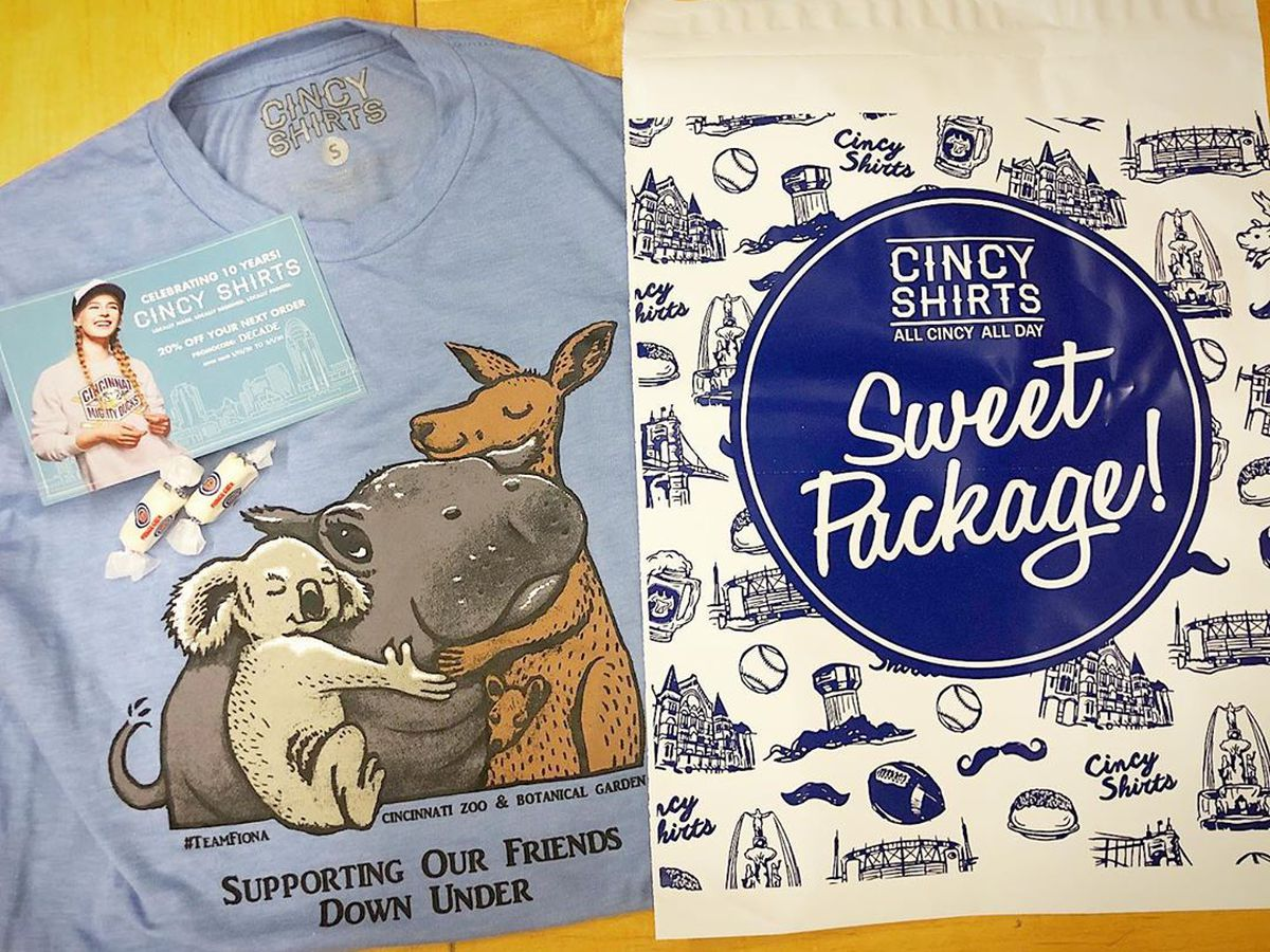 CincyShirts raises more than $85,000 for brushfire relief with 'Friends of Fiona' tee
