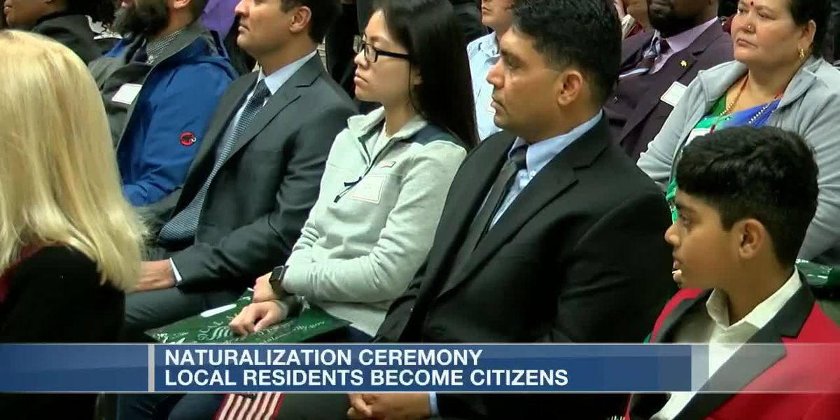 Dozens become US citizens after naturalization ceremony