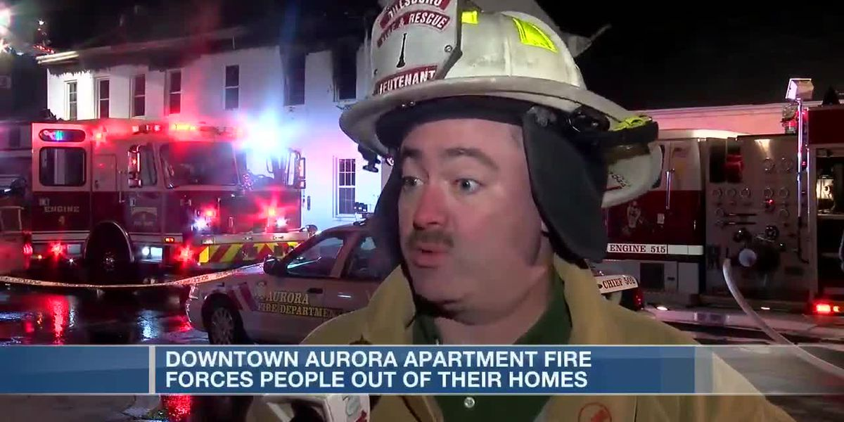 Fire in downtown Aurora, Ind.