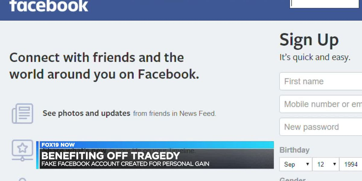 Man says fake social media account created to gain from tragedy