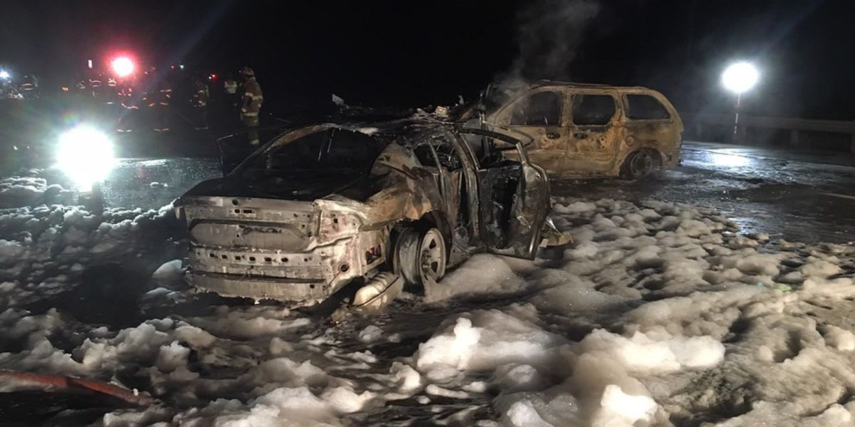 OSHP: Trooper critically injured in fiery head-on crash with possible impaired driver