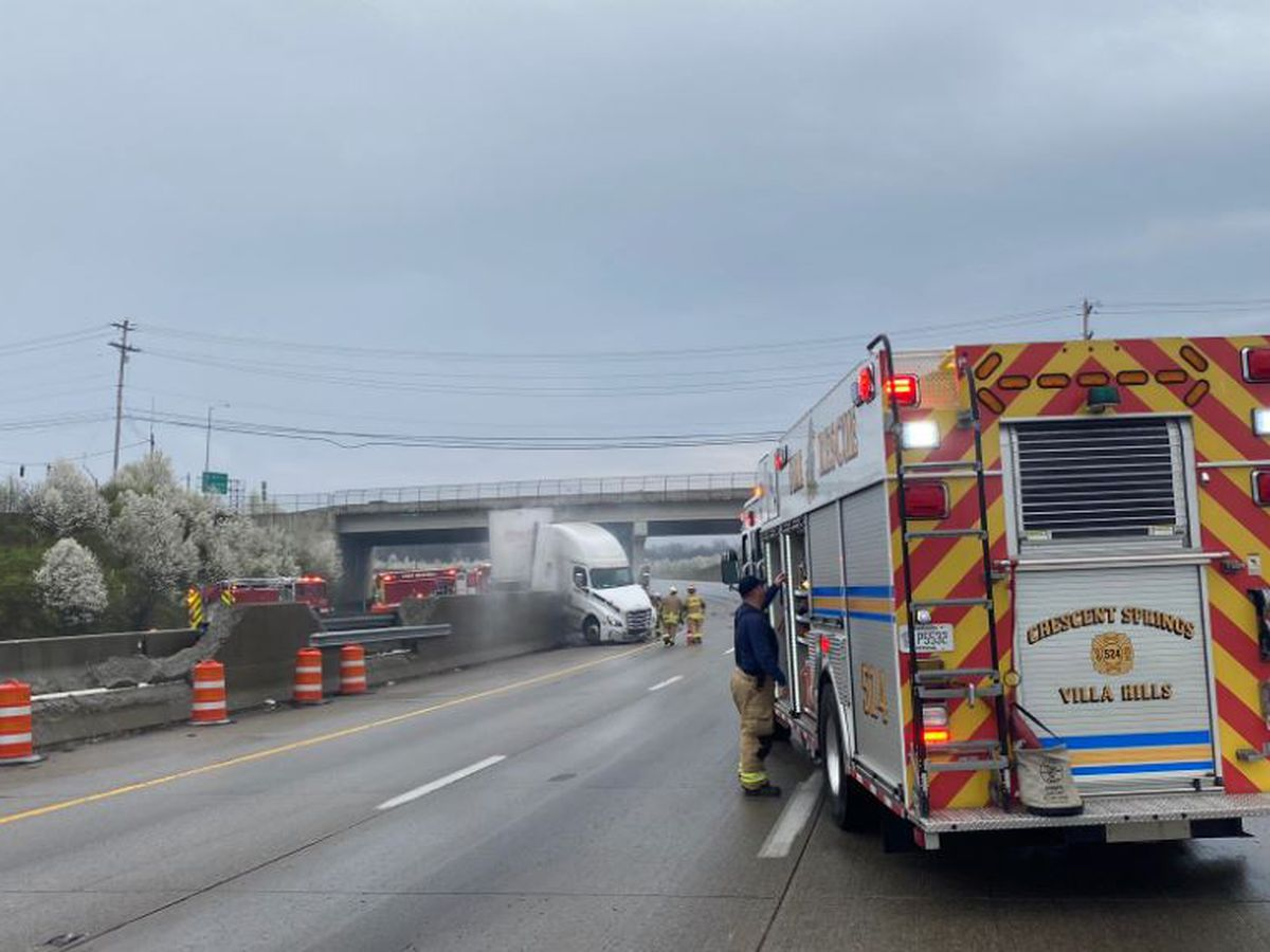 I-71/75 reopens at Dixie Hwy. after crash, truck fire