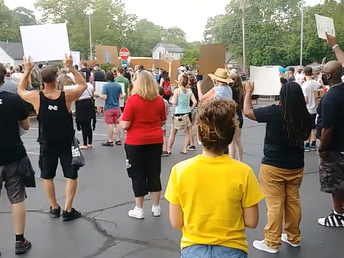 Large crowd gathers for Black Lives Matter march in Milford