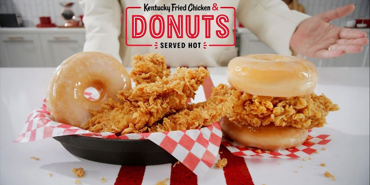 KFC goes national with its chicken and donuts sandwich