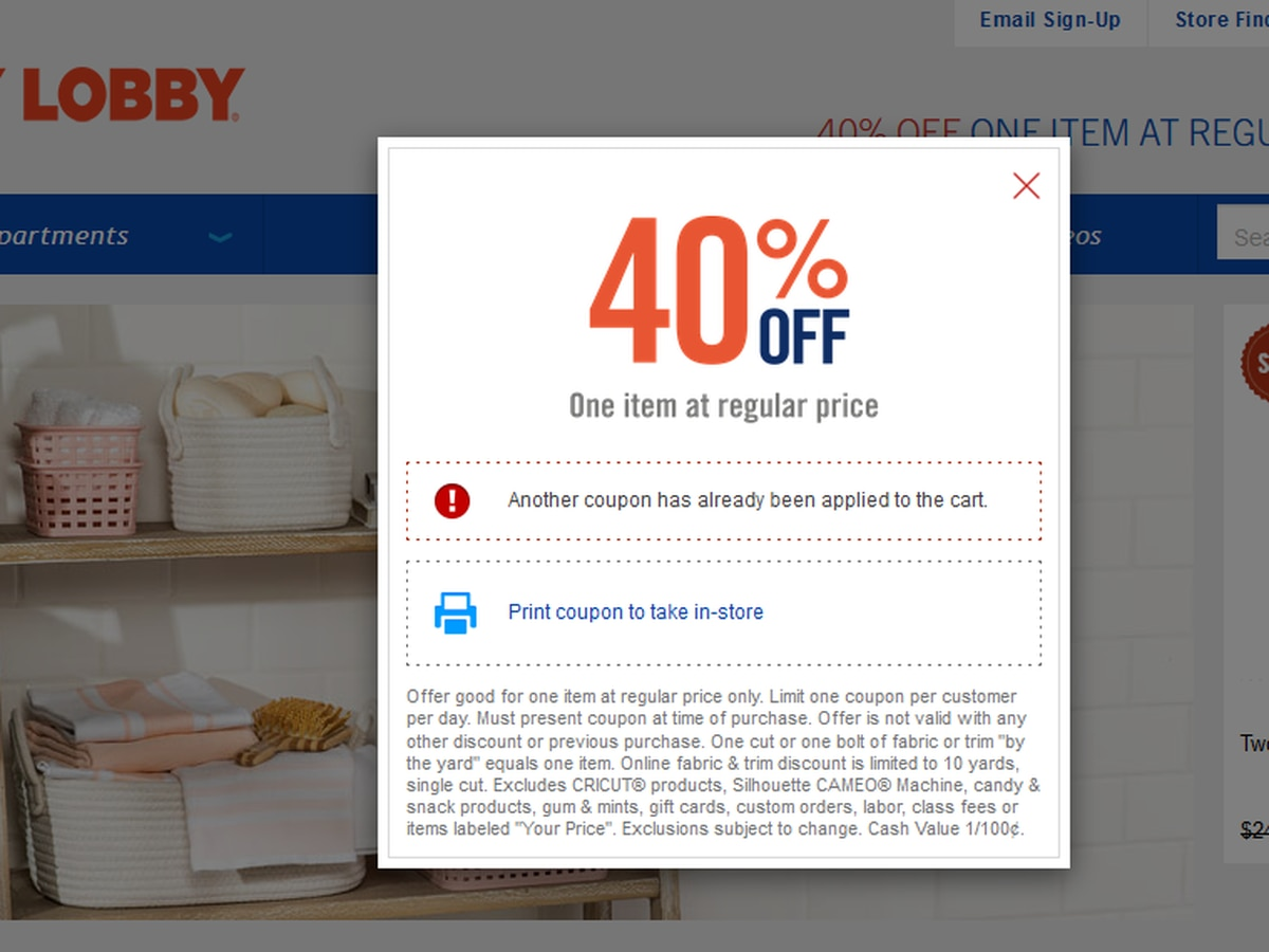 Hobby Lobby to end its popular 40% off coupon