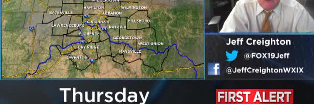 Jeff's Thursday afternoon forecast 9/12