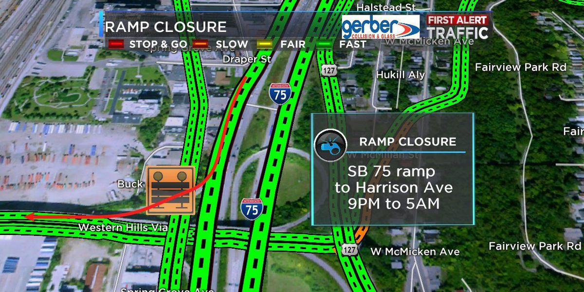 Ramp closures scheduled for I-75 at Hopple Street