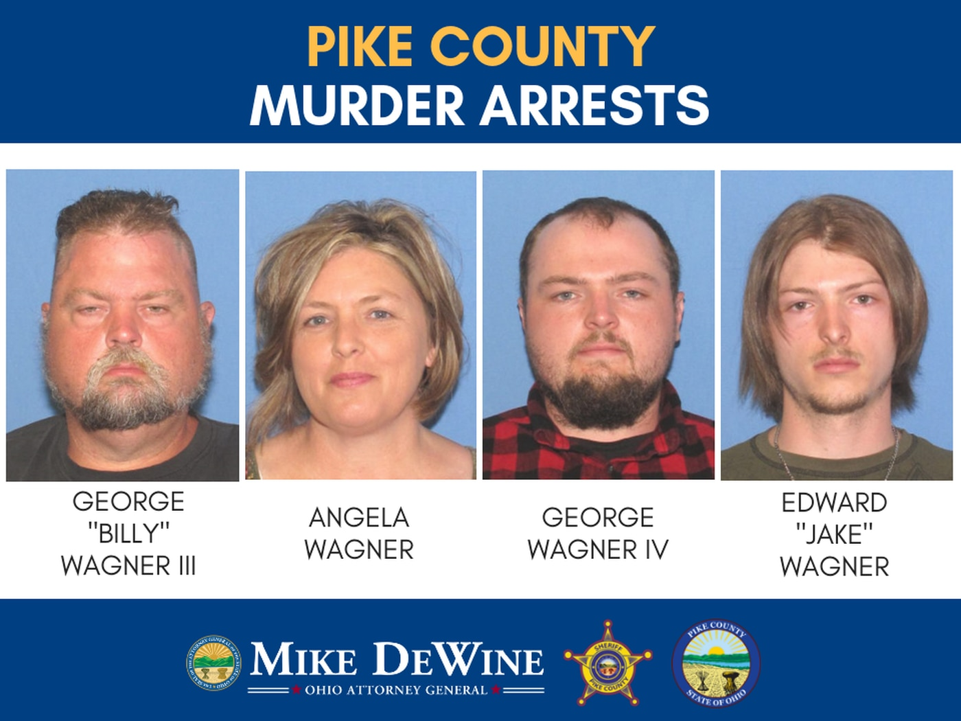 Wagner family members arrested in execution-style murders of Pike Co
