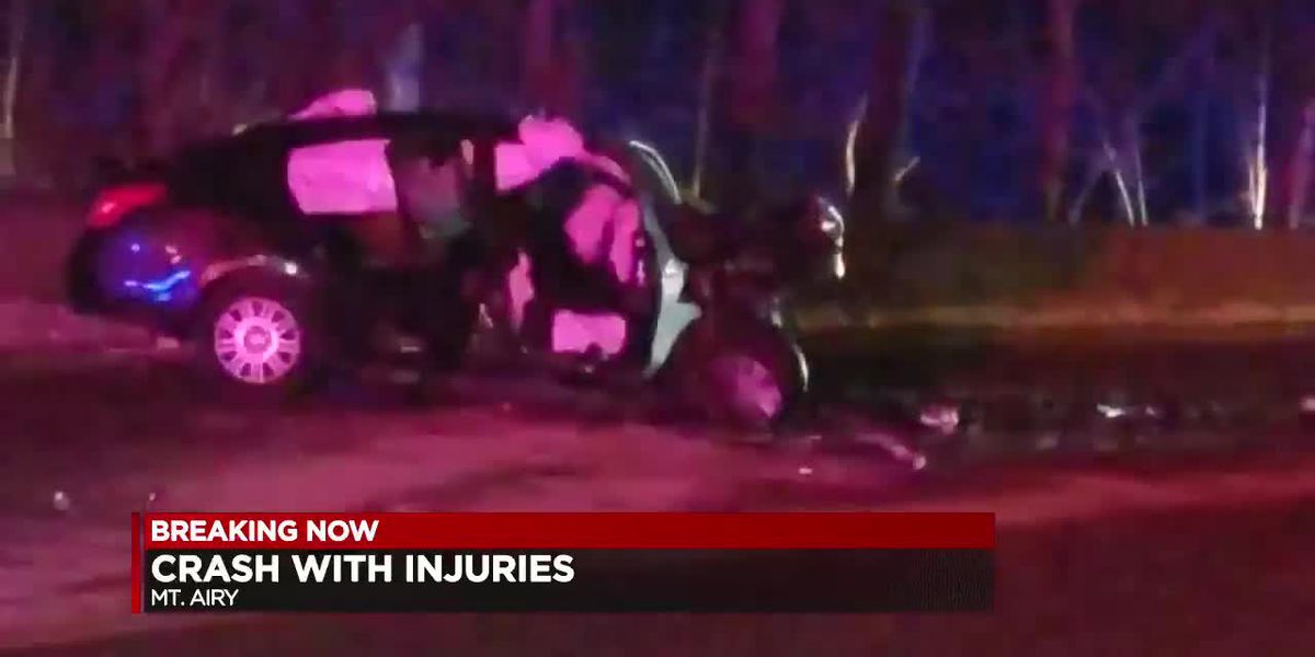 Crash with serious injuries in Mt. Airy