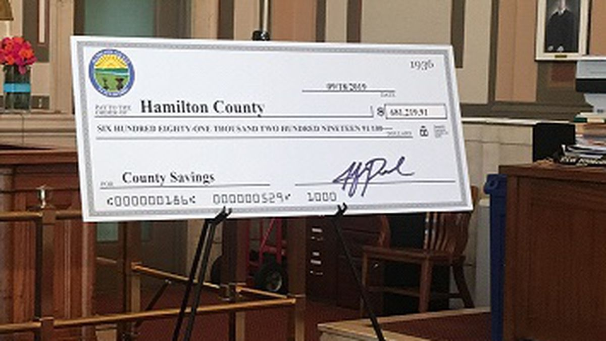 Hamilton Co. gets nearly $700K from unclaimed court case funds