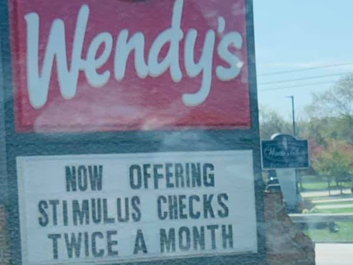 'Now offering stimulus checks twice a month': Brunswick Wendy's has creative way of saying 'we're hiring'
