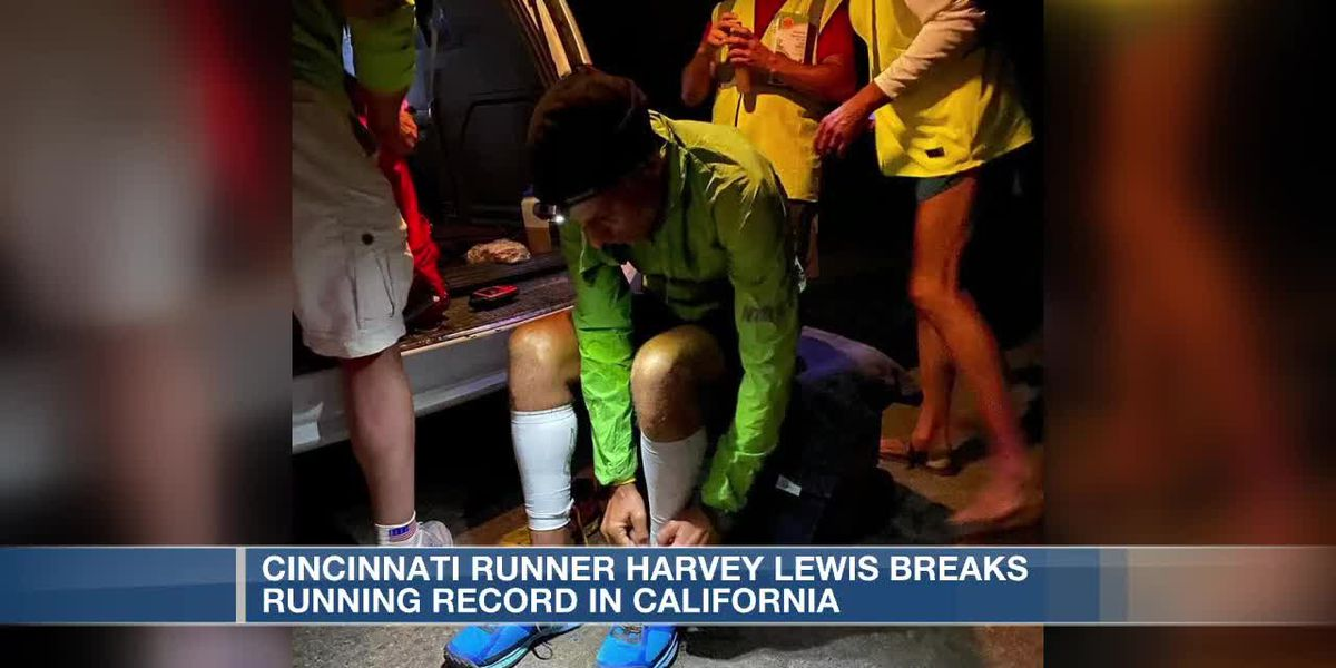 Cincinnati runner Harvey Lewis breaks running record in California