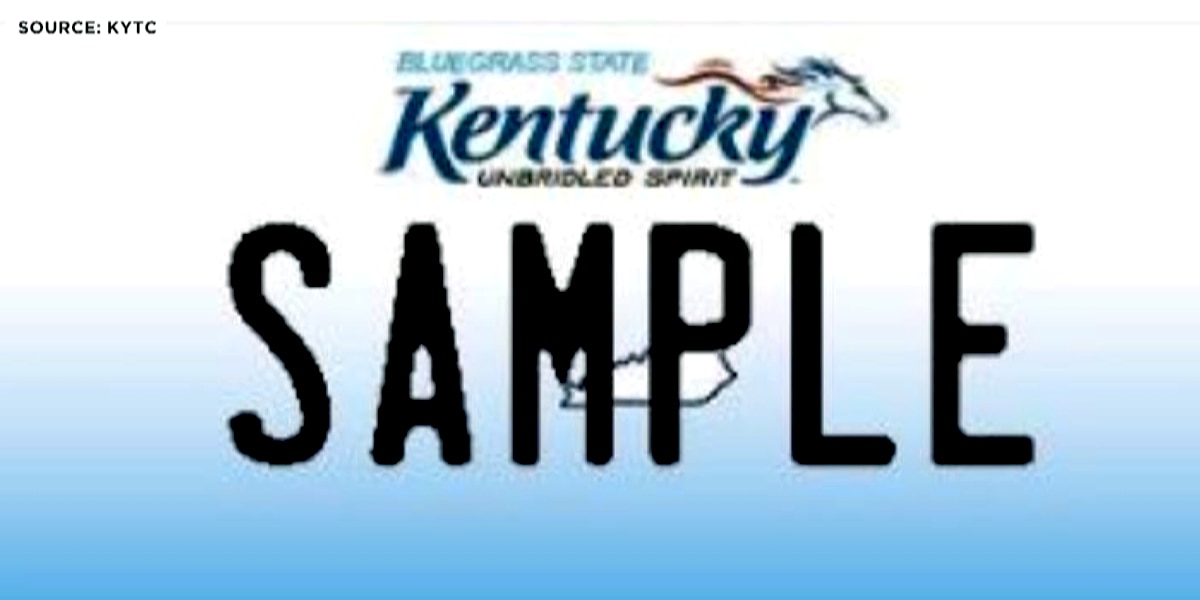 Kentucky license plates to be printed digitally starting next year