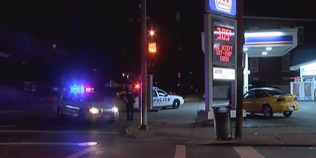 Gas stations held up overnight