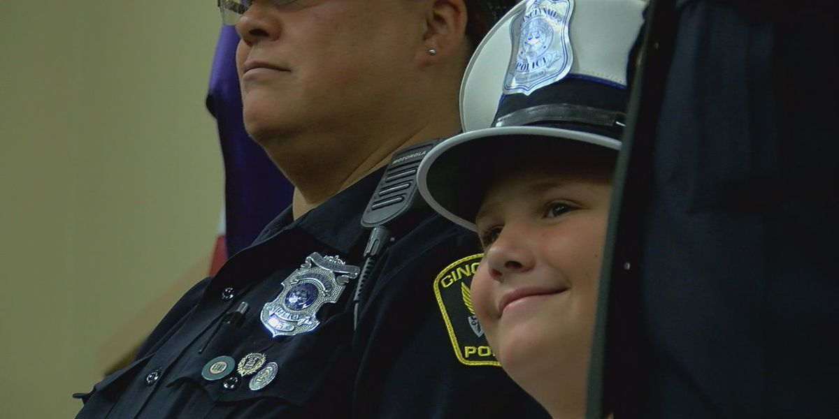 Cancer survivor's first order of business as police chief for the day: 'Everybody off'