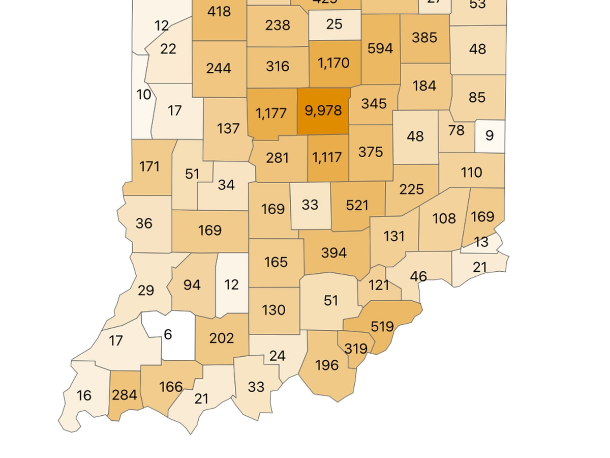 Indiana's positive testing rates continue to trail Ohio, Kentucky