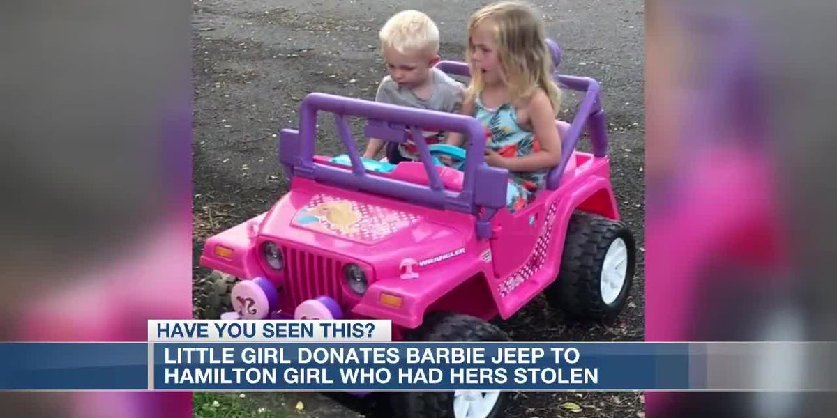 Little girl donates Barbie Jeep to Hamilton girl