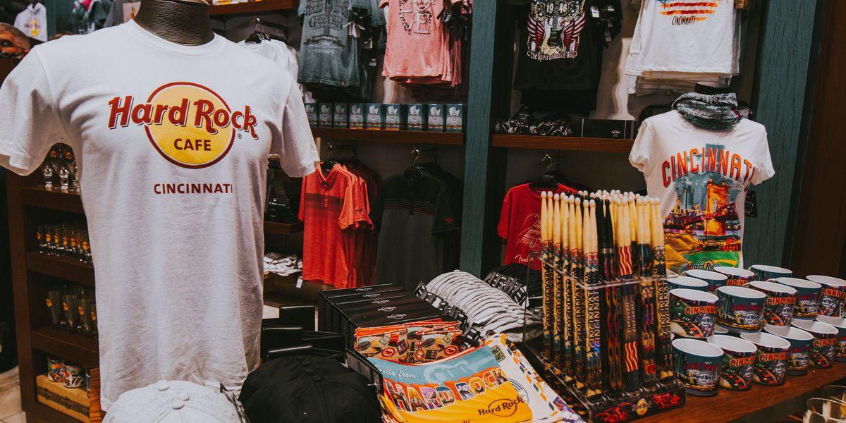 Hard Rock Cincinnati unveils merchandise, exclusive design