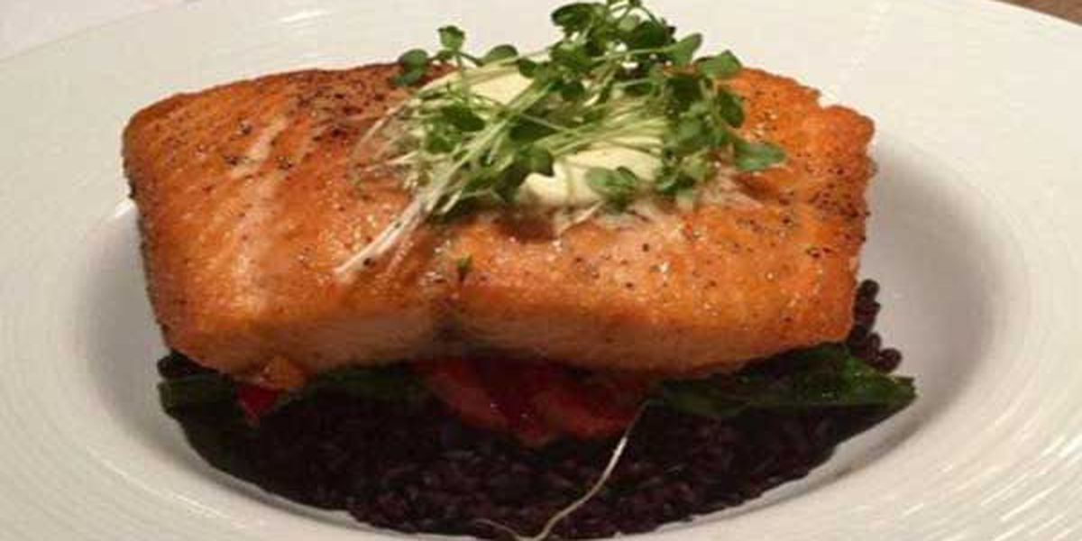 Recipes: Dijon-Herb Crusted Salmon with Dill Sauce