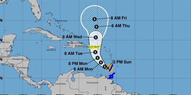 Tropical Storm Karen forms in Atlantic, targets Puerto Rico