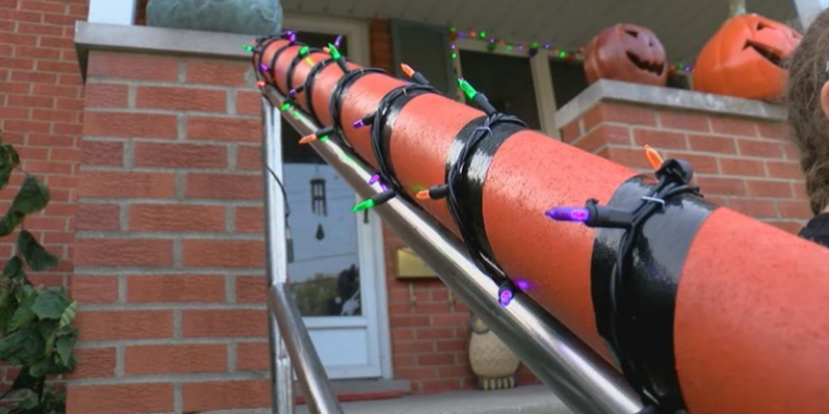 Father, daughter create candy chute to keep Halloween safe during pandemic
