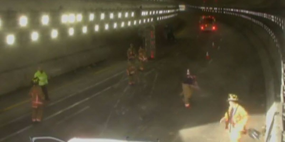 NB lanes of 71 reopen after truck flips inside Lytle Tunnel