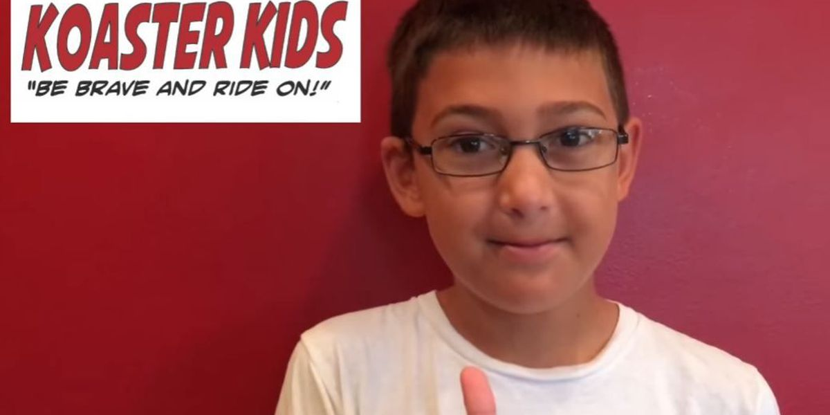 11-year-old boy uses roller coasters to fight fears, help others