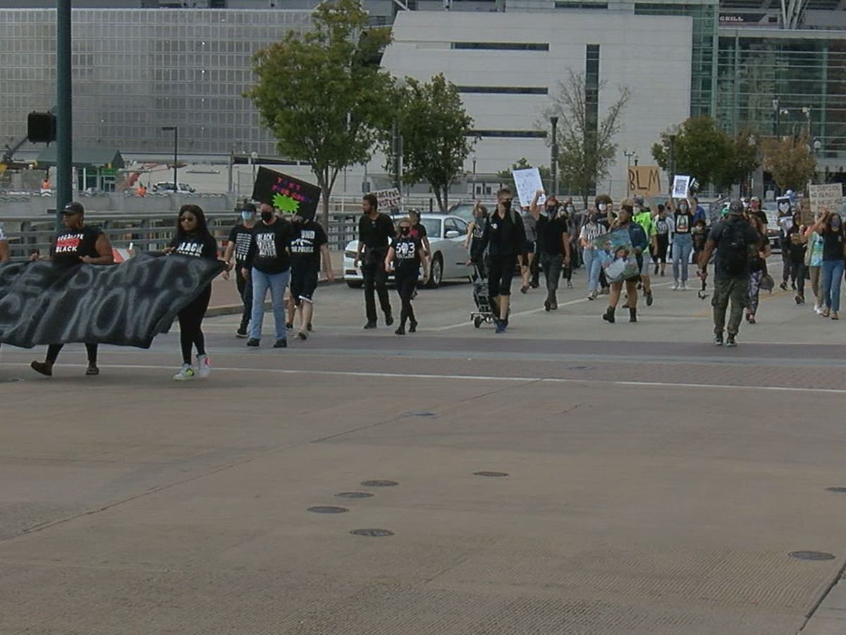 Multiple Black organizations held march through downtown Saturday