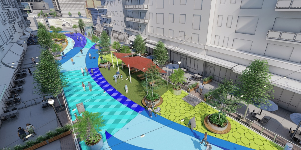 Pedestrian park, permanent outdoor dining proposed for The Banks