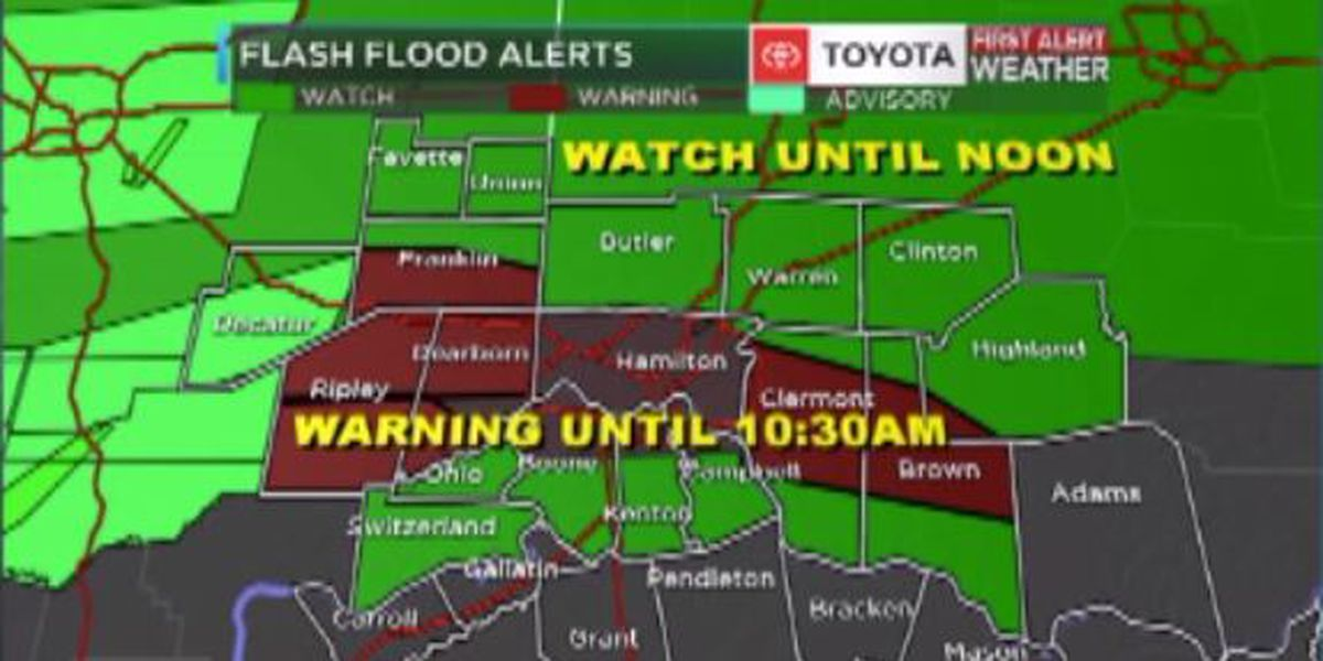 FLASH FLOOD CONCERNS THIS MORNING