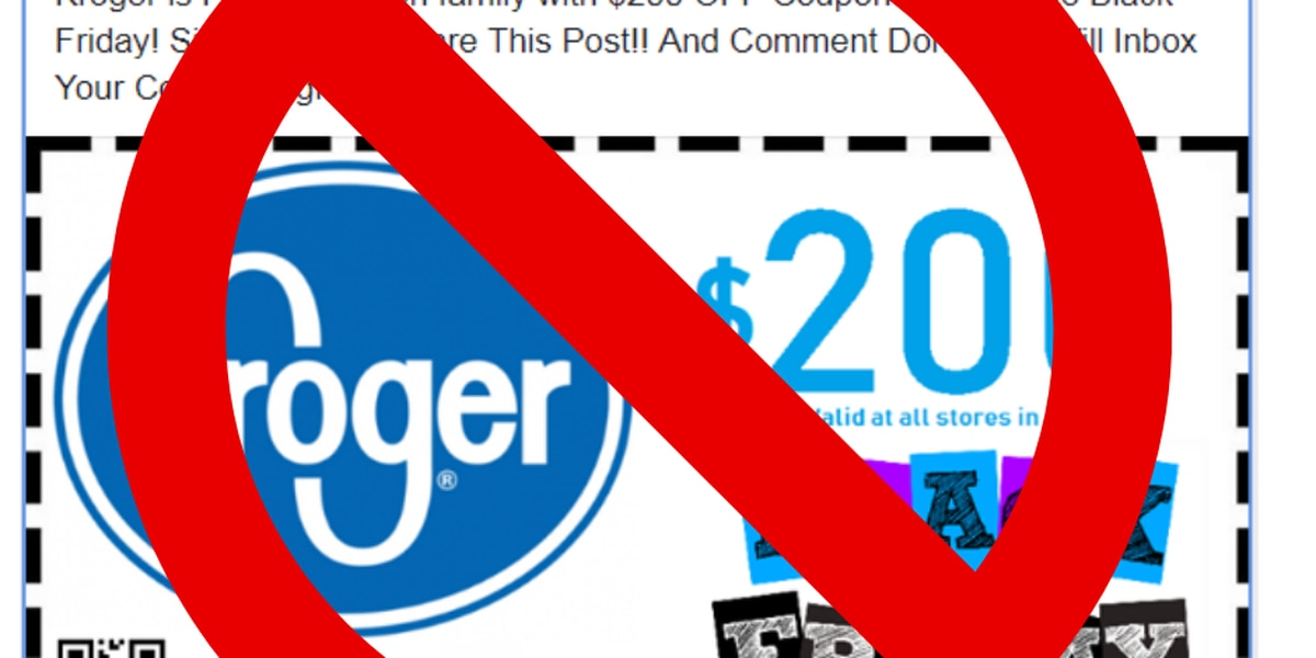 Kroger warns of fake Black Friday coupon circulating