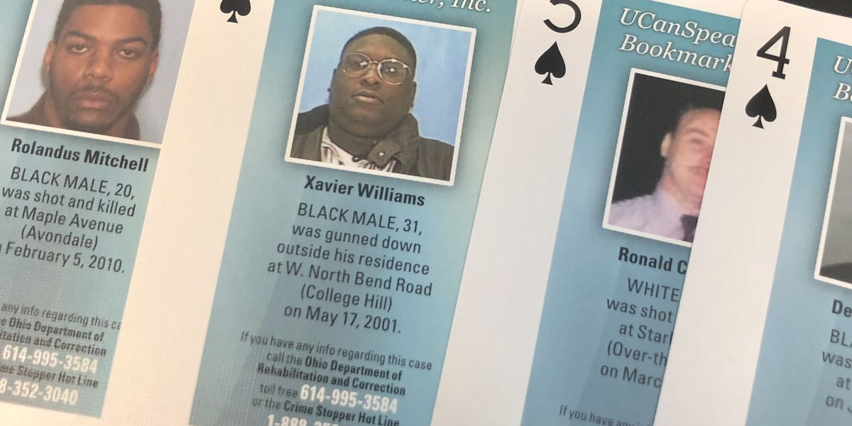 Cold case playing cards distributed in Ohio jails, prisons to help with unsolved murders