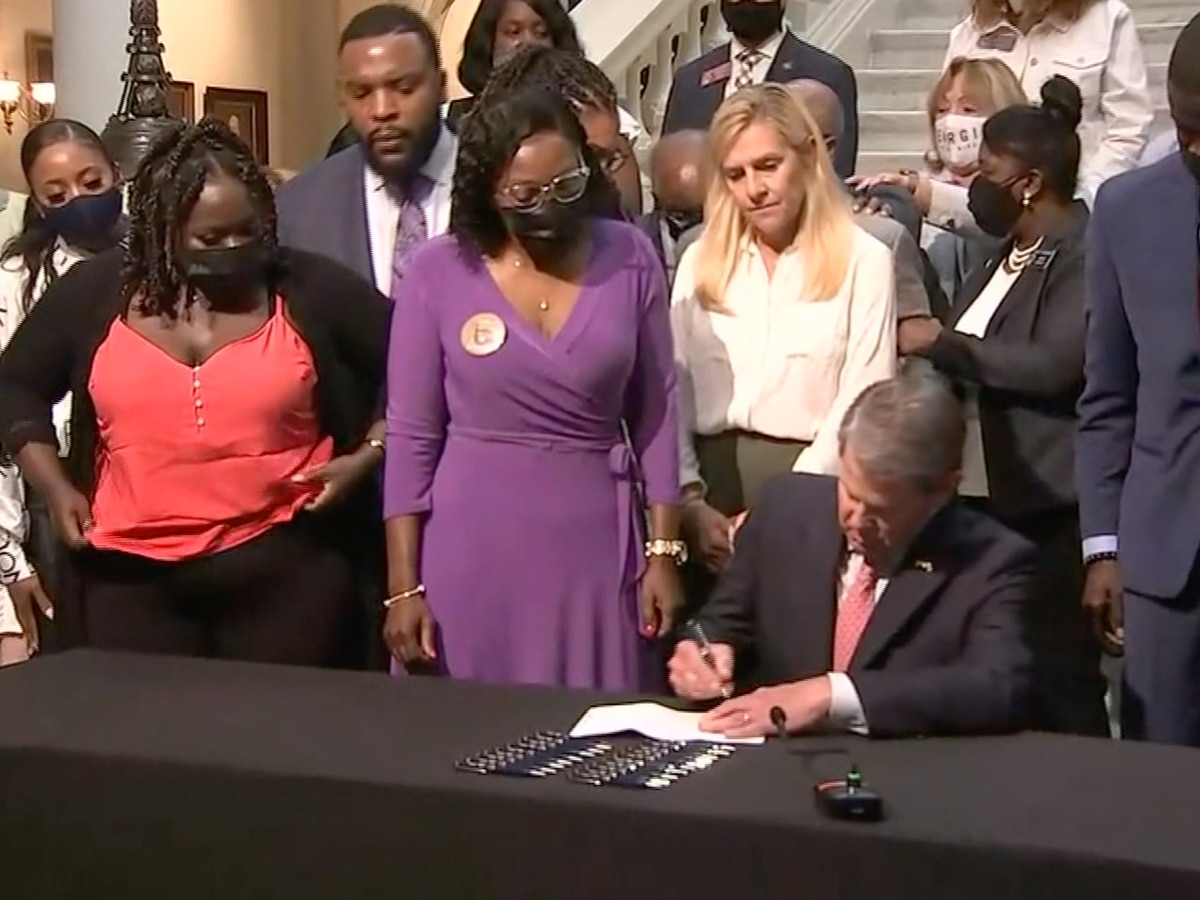 Georgia Gov. Kemp signs repeal of 1863 citizen's arrest law