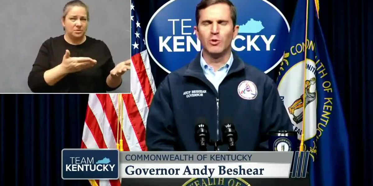 Gov. Beshear provides Monday update on COVID-19 in Kentucky