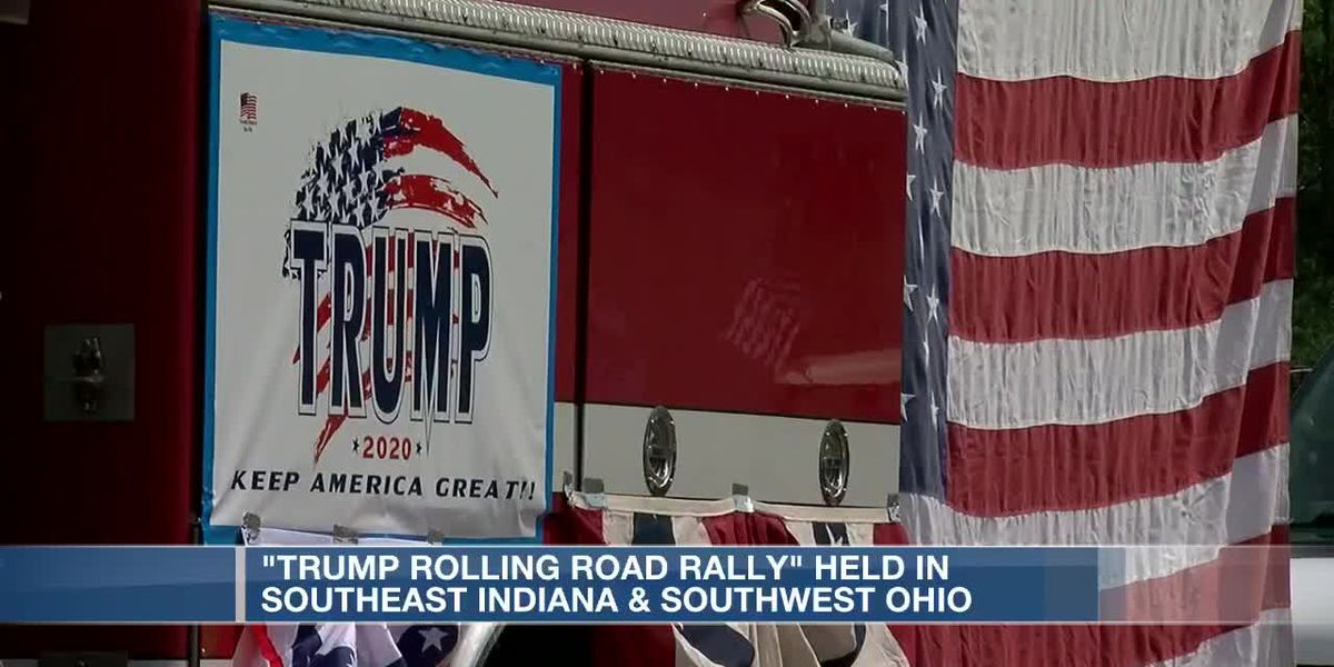 A 'rolling rally' for President Trump traveled 87 miles around Indiana and Ohio Sunday