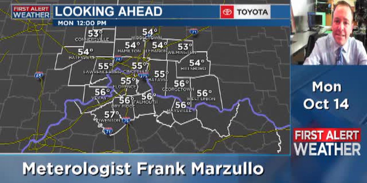 Meteorologist Frank Marzullo's Monday morning forecast