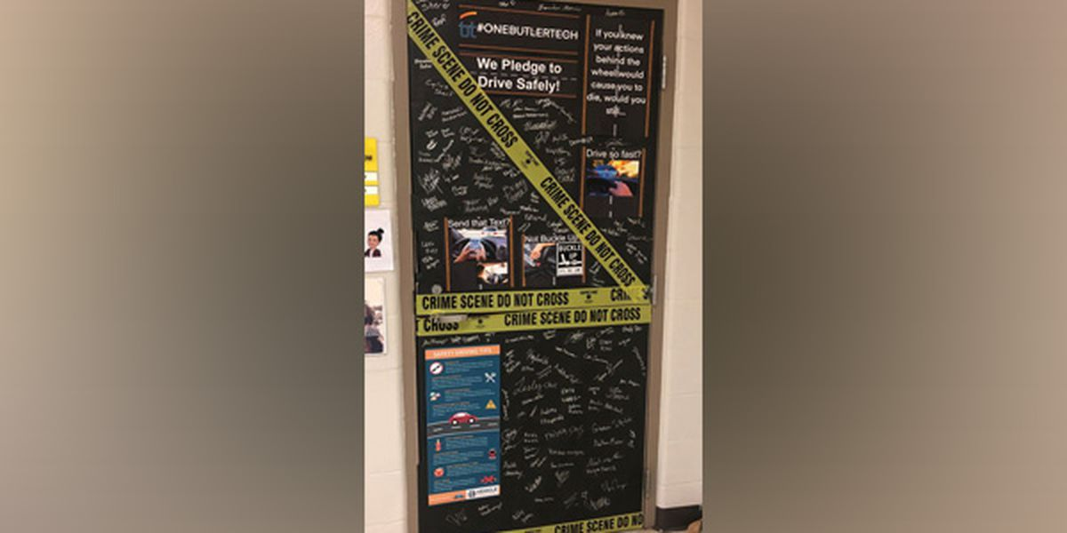 Butler Tech teens creating door displays to raise safe driving awareness