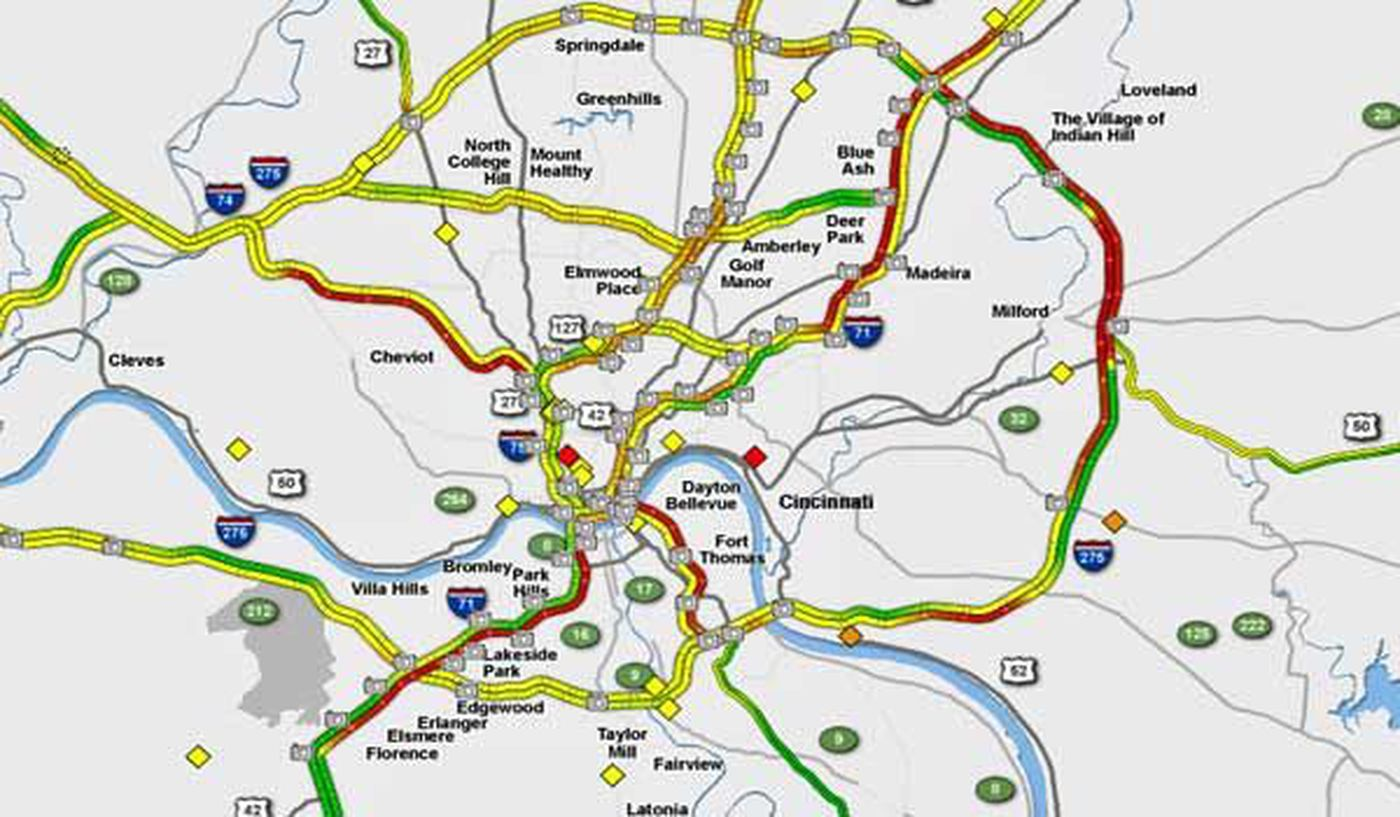 Current Traffic Conditions On Area Roadways