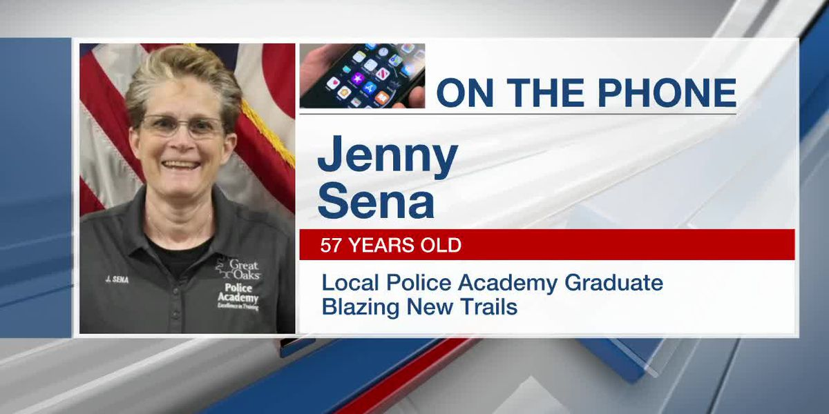 Jenny Sena, 57, is a new graduate of the Great Oaks Police Academy
