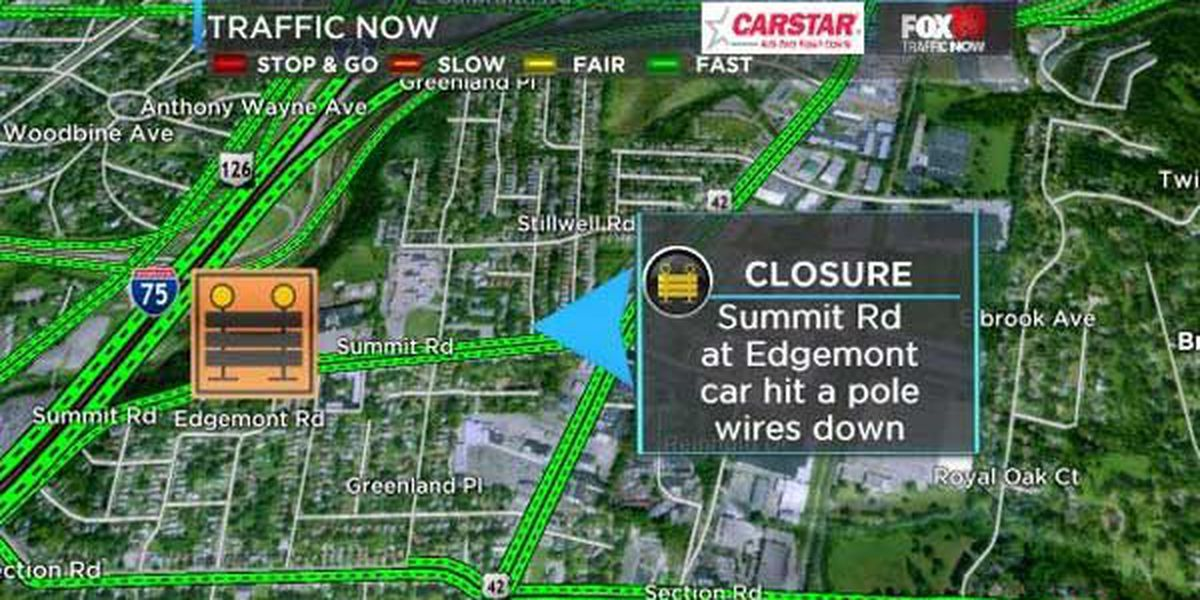 Crash, power outage closes Summit Road for several hours