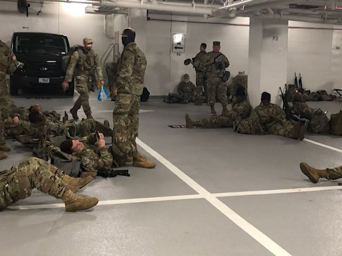 Guard in DC forced to sleep in garages, sparking outcry
