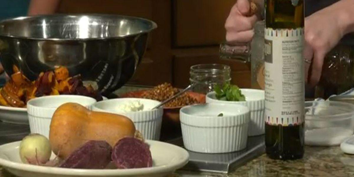 Turner Farm's roasted root vegetable and wheatberry salad