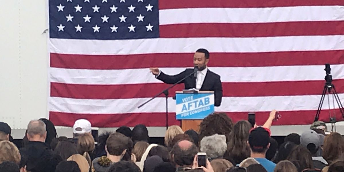 John Legend hosts get out the vote rally