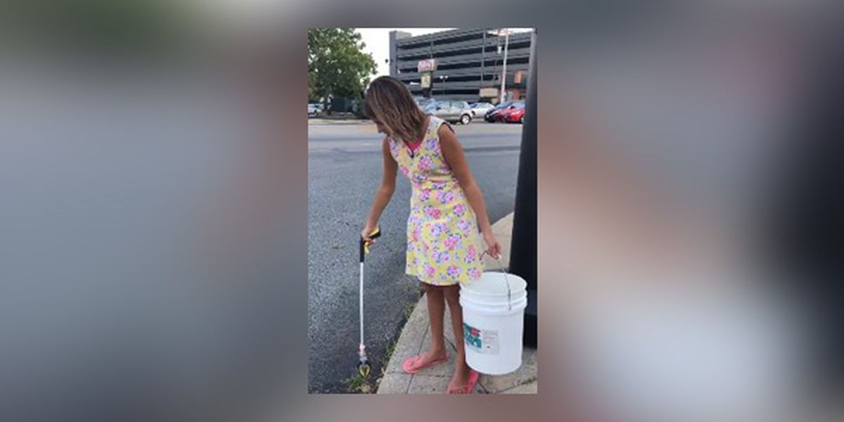 Norwood teen spends hours a week cleaning up trash in the community