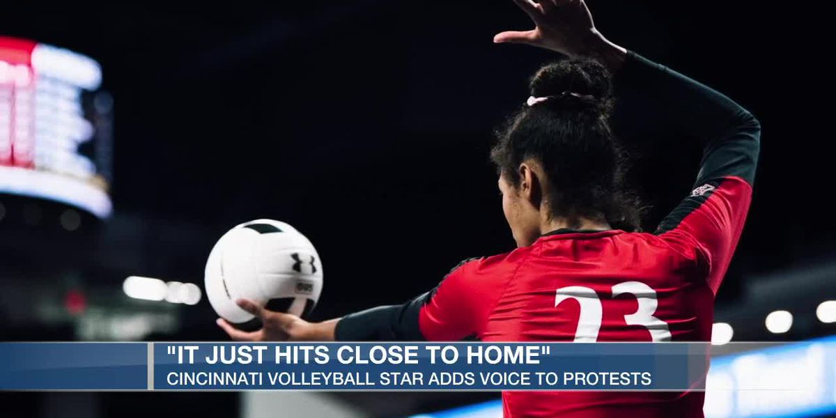 Cincinnati volleyball star adds voice to protests