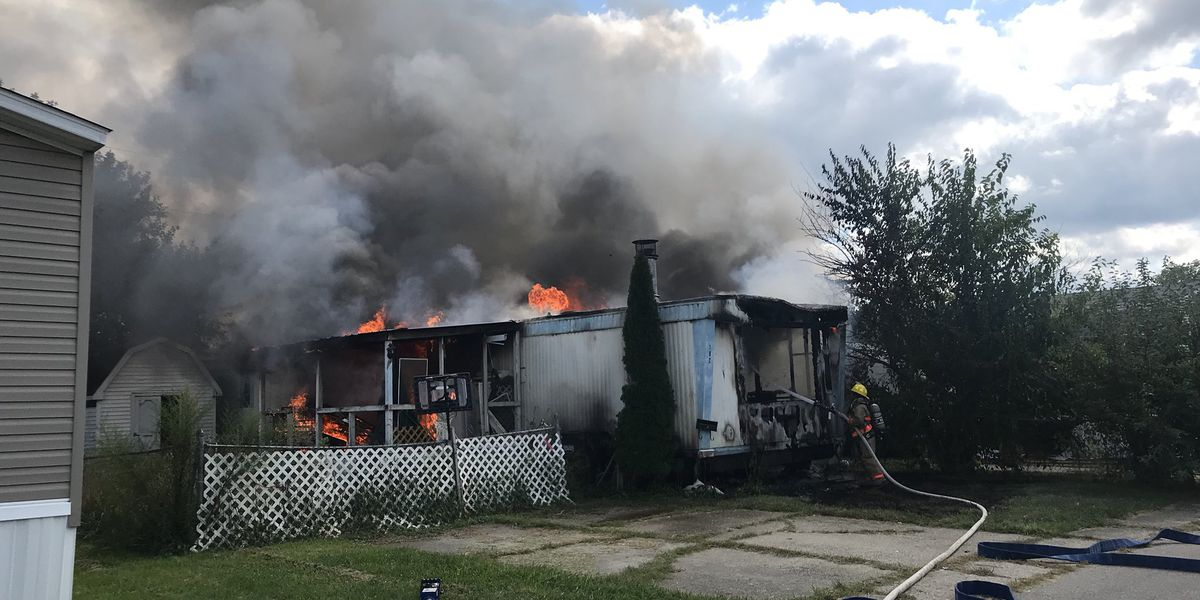Fire chief: Oxford mobile home fire likely caused by juveniles playing inside