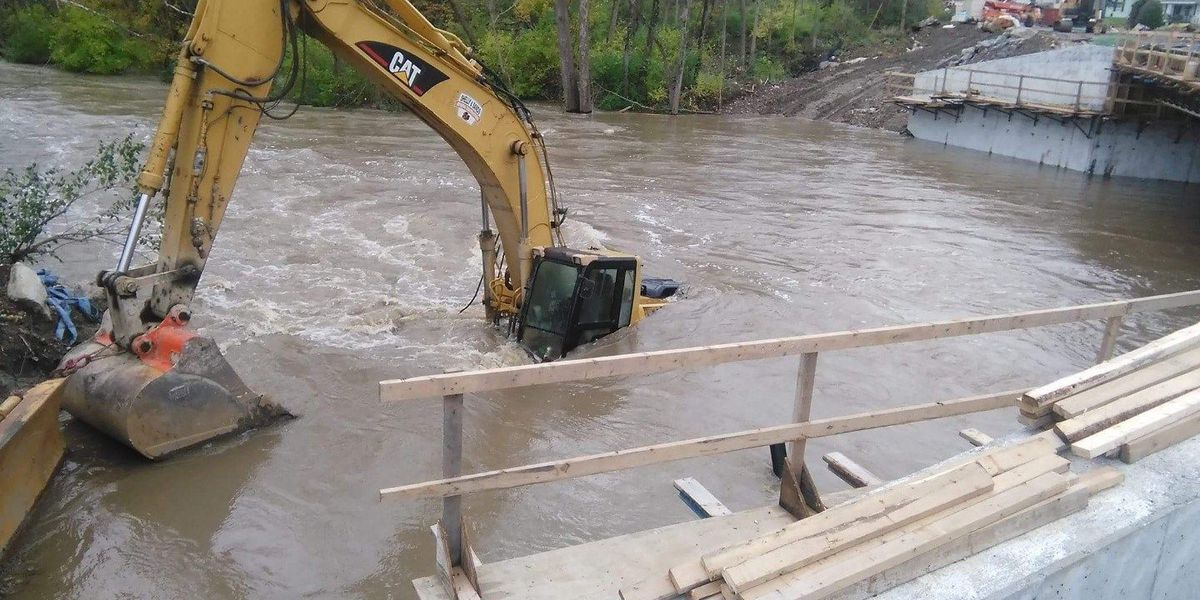 Despite backhoe in creek, ODOT expects Highland County bridge project to be done soon