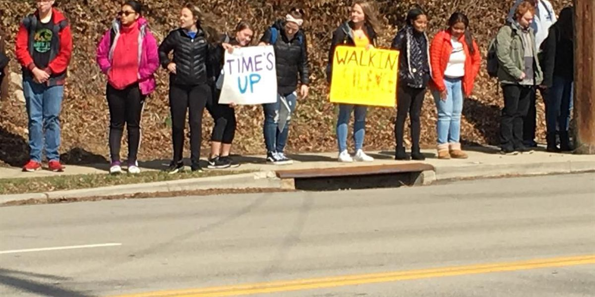 Local students hold their own protest ahead of national gun violence walk out
