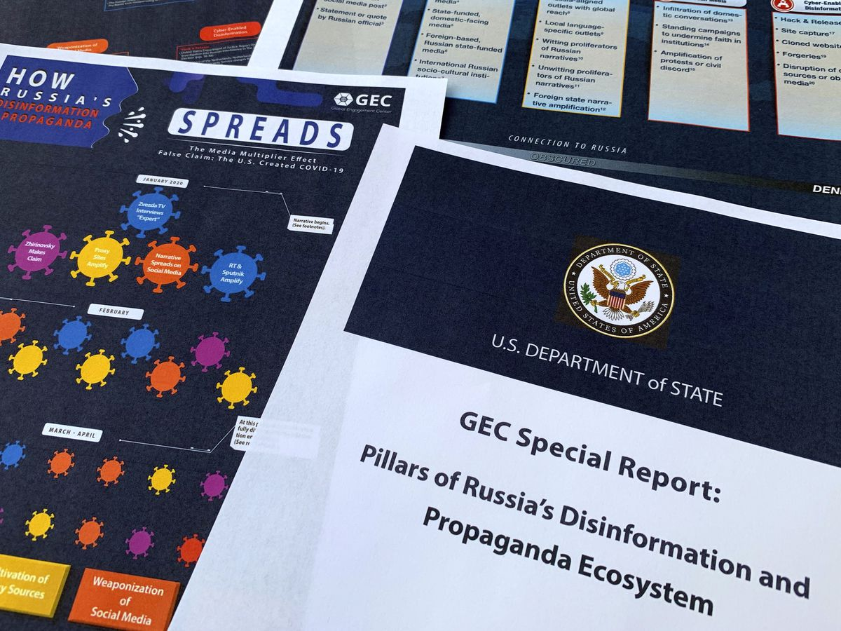 State Dept.: Russia pushes disinformation in online network